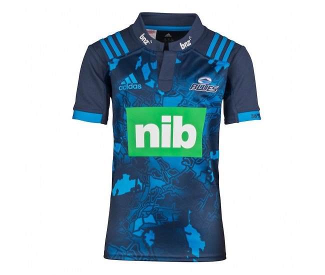 Blues 2017 MEN'S ADIDAS AUCKLAND BLUES SUPER RUGBY SHIRT
