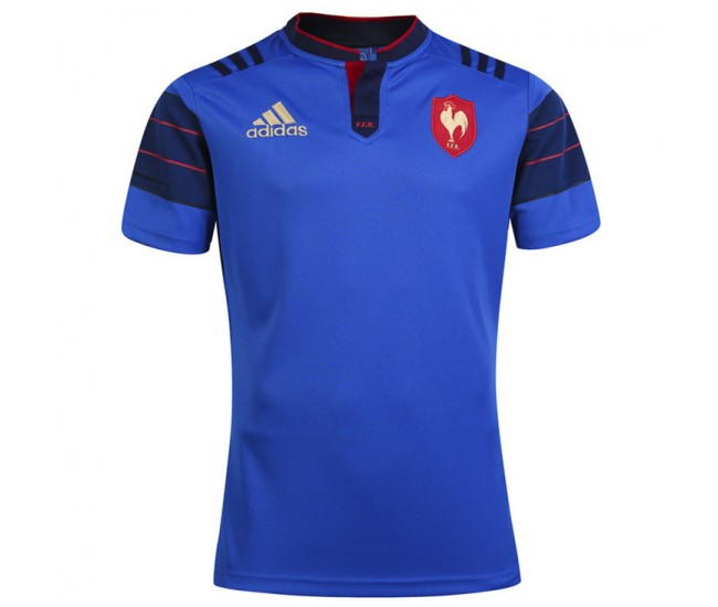 2016 Men's France Home Rugby Jersey