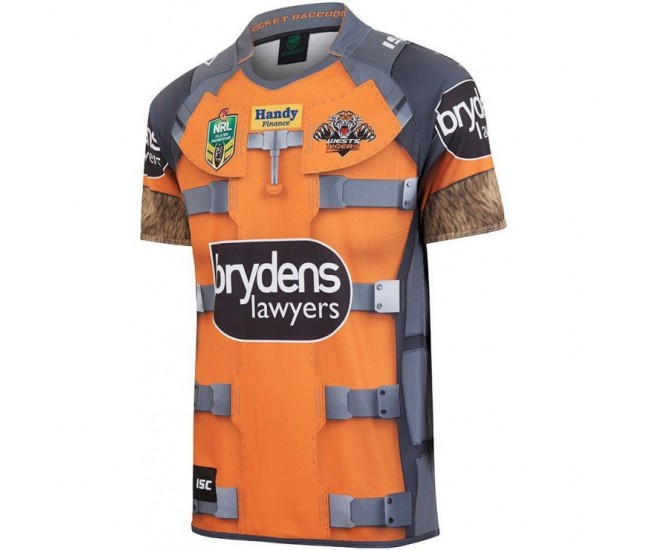 Wests Tigers 2017 Men's Rocket Raccoon Marvel Jersey